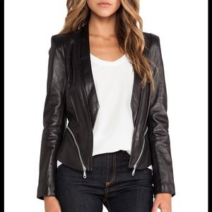 Rebecca Minkoff Size 2 Black Hydra Jacket Leather